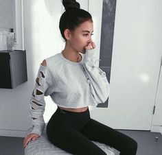 JAY WALKER Hollow Out Sweatshirts Women Sexy Crop Tops Long Sleeve Female Cropped Sweats with holes Laddies Casual Pullovers