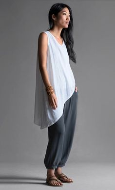eileen fisher blouse and pants.