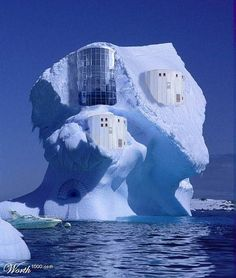 unusual homes pictures - Bing Images Unusual Buildings, Interesting Buildings, Amazing Buildings, Crazy Houses, Ice Houses, Weird Houses, Cool Houses, Dream Houses, Photo Chateau