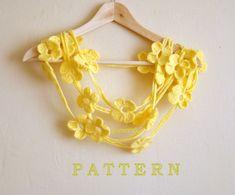 crochet lariat scarf pattern