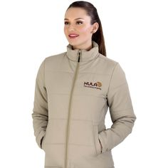 The Ladies Rego Jacket Is A Polyester Jacket With Padding And Lining. Features A Wind Placket And Two Hand Pockets. Available In Great Colours. Snug, Winter Jackets, Hands, Colours, Pockets, Fit, Interior, Stuff To Buy, Clothes