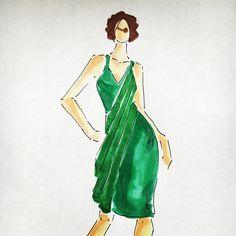Dress of the day #fashion #illustration #design #sketching #dress #creativity @RADOST™