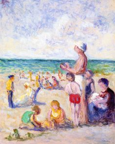 The Athenaeum - On the Beach in Normandy (Maximilien Luce - )