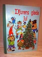 Rare Swedish Richard Scarry//DJURENS GLADA JUL//1970 Kathryn Jackson//Christmas