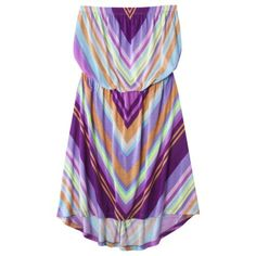 Mossimo Supply Co. Juniors High Low Strapless Dress - under $25