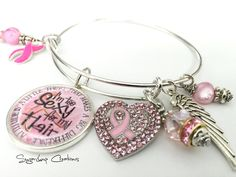 Breast Cancer Bracelet, Alex and Ani, I'm Too Sexy for My Hair Breast Cancer Awareness Bracelet Wear it proudly and Show your support! - pinned by pin4etsy.com