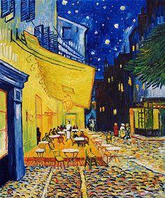 Vincent Van Gogh - Terraza del café de la Place du Forum en Arlés por la noche, 1.888