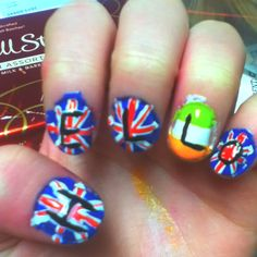 One direction nail art design