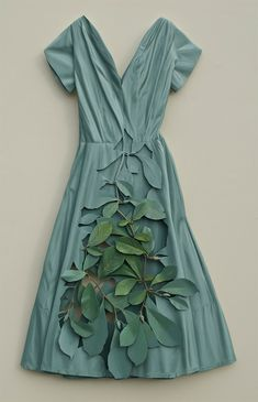 Trompe L'oeil Constructions by Ron Isaacs Using layers of birch plywood, American artist Ron Isaacs creates elaborate sculptural pieces combining three main subjects – vintage garments, plant materials and found objects.
