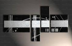 Resultado de imagen de cuadro moderno blanco y negro Diy Canvas, Canvas Wall Art, Painted Canvas, Multiple Canvas Paintings, Abstract Canvas Art, Paint Set, Wall Art Pictures, Texture Painting, Diy Painting