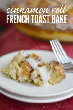 Cinnamon Roll French Toast Bake is perfect for Sunday brunch or anytime you are craving cinnamon rolls and french toast! This delicious breakfast recipe comes together super fast and you can even prep it the night before for a smooth morning.