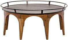""":: NOIR :: Dimensions: 45.5"""" X 45.5"""" X 20.5"""" H  Weight (lbs): 77  Material: Metal and Walnut  Finish: Dark Walnut"""