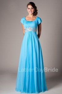 Modest Prom Dresses : Melanie -Modest Mormon LDS Prom Dress