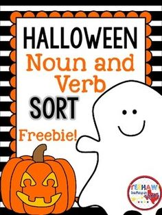 Students will love sorting these Halloween nouns and verbs. Students could also use these cards to write sentences for an extra challenge! verb, Halloween Noun and Verb Sort Freebie 2nd Grade Ela, First Grade Reading, Second Grade, Grade 2, Grammar Activities, Classroom Activities, Halloween Activities, Teaching Resources, Holiday Activities