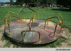My generation's merry-go-round. Yes. Those were the days.