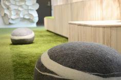 Office design, ABW, Scandinavian design, green interior