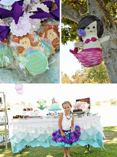 OMBRE MERMAID BIRTHDAY PARTY! The Cute Cookies and the Pinata