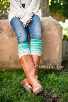 Ombre Leg warmers Mint leg warmers dip dyed by GraceandLaceCo Grace And Lace, Fall Winter Outfits, Autumn Winter Fashion, Fall Fashion, Summer Outfits, Fashion Trends, Casual Outfits, Cute Outfits, Fashion Outfits