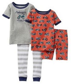 Pijama CARTERS 4 piezas - para combinarlas como quieras! Talles 3 años