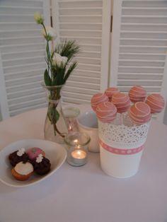Winterliche Candy Bar in altrosa-weiß gehalten Part1