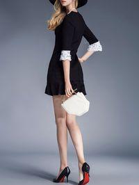 Beaded Cotton-blend Mini Dress