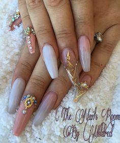 My nails, did them for the San Juan Beauty Show  #thenailsroom #uñas #uñasacrilicas #nails #nailart #notpolish #nailprodigy #nailsofinstagram #nudenails #acrylic #acrylicnails #coffinnails #longnails #peachnails #swarovskinails #crystals #nailcharms #sanjuanbeautyshow2015