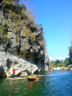 Minalungao National Park's towering limestone formations and emerald hued river - Nueva Ecija, Philippines Philippines Destinations, Philippines Travel Guide, Philippines Culture, Where To Go, Time Travel, Places Ive Been, Vacations, Emerald