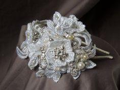 Bridal  Rhinestone headband Bridal by svitlanasbridalveils on Etsy