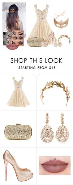 """""""Dlyn - Baile de Máscaras"""" by larissamucilo13 on Polyvore featuring Anya Hindmarch, Suzanne Kalan, Christian Louboutin, women's clothing, women's fashion, women, female, woman, misses and juniors"""