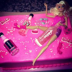 21st Birthday drunk Barbie cake! All I want for my birthday seriously it's perfect!