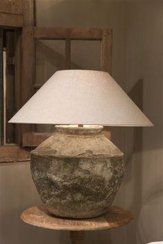 Vloer- & tafellampen | Met Brocant Label Wabi Sabi, Lampe Decoration, Country Interior, Lamp Sets, Rustic Interiors, Lamp Design, Light Shades, Home Lighting, Home And Living