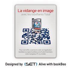 QR Code bookBeo designé pour Total Lubrifiants. Tapas, Applications, Qr Codes, 2d, Communication, Coding, Marketing, Design, Design Comics