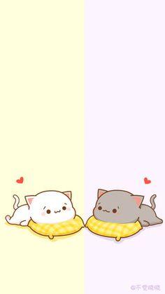 Cute Anime Cat, Cute Bunny Cartoon, Cute Cartoon Images, Cute Kawaii Animals, Cute Couple Cartoon, Cute Love Cartoons, Cute Cat Gif, Cute Cartoon Wallpapers, Cat Wallpaper