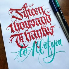 I MUST thank all of you guys and girls that follow every day my Calligraphy. It is not easy but you give me strength and will to push hard every day. Thank you all! #15thousand #followers #keepwriting #calligraphy #calligraphymasters #calligrafia #calligraphyart #handwriting #handlettering #handmadefont #lettering #letteringco #ligaturecollective #friendsoftype #brushlettering #fraktur #tyxca #typegang #typespire #typetopia #typographyinspired #thedesigntip #thedailytype .