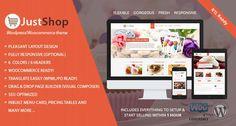 Themeforest Justshop v6.5 – Cake Bakery WordPress Theme