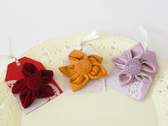 kanzashi flowers brooches