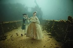 Austrian photographer and deep sea diving enthusiast Andreas Franke has released a new series titled Stavronikita Project: The Life Above Refined Below being exhibited deep at the bottom of the Caribbean right off the coast of Barbados. It was less than two years ago that the adventurous photographer first introduced his idea of an underwater gallery, at 130 ft. deep, with his photography affixed to the sunken USS General Hoyt S. Vandenberg ship.