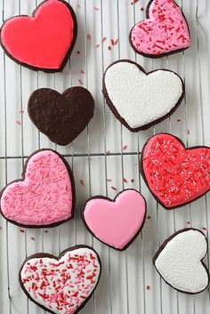 Chocolate Heart Sugar Cookies