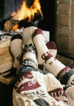 Cozy socks! Makes me think of big bear. ❤️