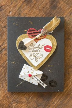 An assortment of cards done with the Sealed with Love set and Love Notes Framelits from Stampin' Up!