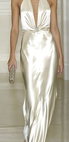 Ralph Lauren ~ Plunging Neckline White Satin Maxi Dress (mother of the bride) Evening Dresses, Prom Dresses, Formal Dresses, Sheath Dresses, Formal Wear, Beautiful Gowns, Beautiful Outfits, Mode Collage, Best Wedding Dresses