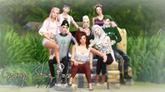 Group Stair Pose by Melly Sims Teen Poses, Kid Poses, Sims 4 Teen, My Sims, Wedding Family Poses, Sims 4 Cc Folder, Sims 4 Family, Best Sims, Group Poses