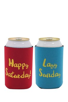 Happy Saturday/Lazy Sunday Drink Sleeves - Set of 2 by TMD on @nordstrom_rack