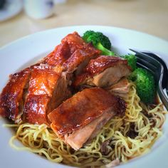 |Roasted duck noodle| Always one of my biggest love🍗