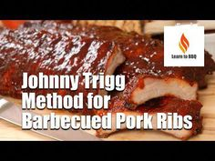 Johnny Trigg is an American celebrity chef and competitor on the competitive barbecue circuit. He is a two time Grand Champion of the Jack Daniels World Championship Invitational and has appeared on TLC reality television show BBQ Pitmasters. Barbecue Pork Ribs, Barbecue Recipes, Bbq Grill, Grilling Recipes, Grilling Tips, Smoker Recipes, Bbq Meat, Bbq Rub, Beef