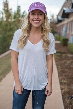 7e185219d9986 Deep v-neck easy t-shirt off white from Lush Fashion Lounge
