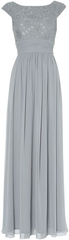 Eliza J Bridesmaid Lace Top Chiffon Maxi Gown on shopstyle.co.uk