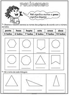 polígonos Math Vocabulary, Love Math, Math Worksheets, Math Games, Math Centers, Homeschool, Classroom, Teaching, Education