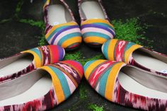 Indonesian Handwoven in a cute shoes