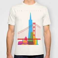 Shapes of San Francisco. Accurate to scale T-shirt by Yoni Alter - $22.00